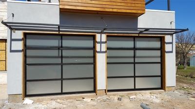 modern glass garage door