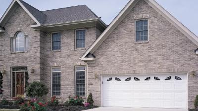 white modern garage door