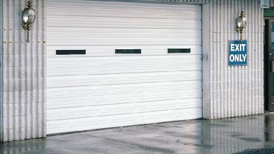 window commercial garage door