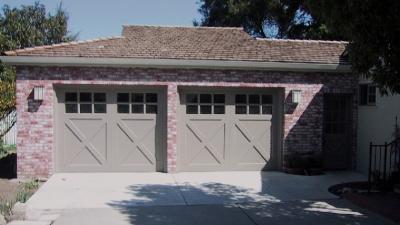2 car garage door install