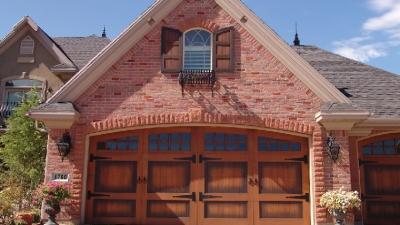 residential wood garage door